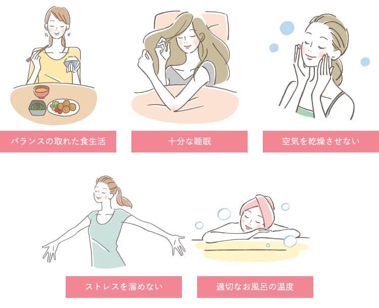 乾燥肌を予防するには図解