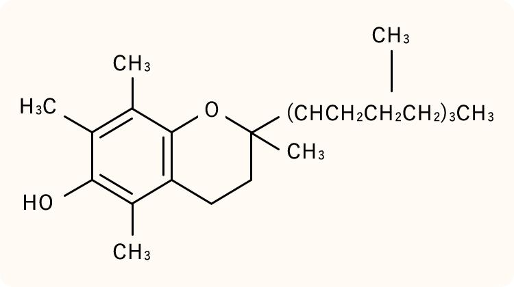 トコフェロールの化学式